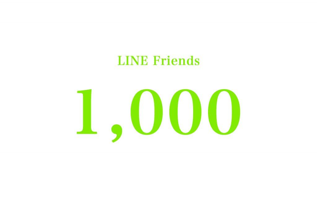 Lineの友達数が1000人を突破